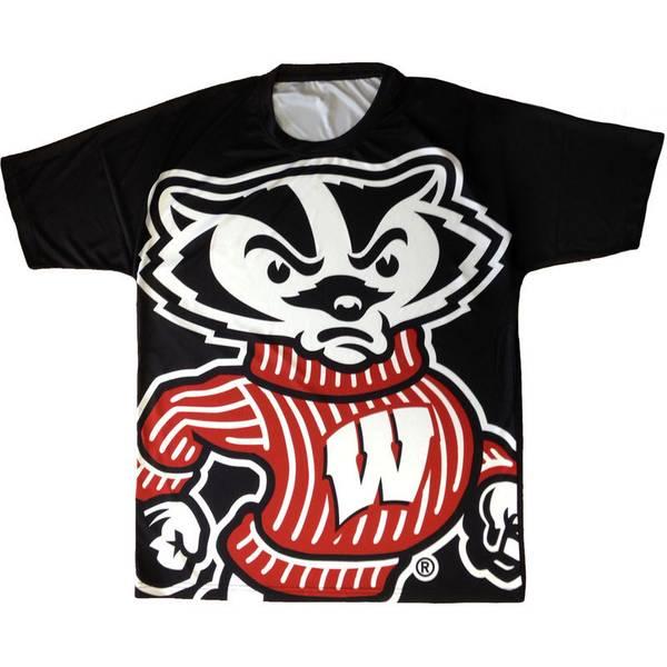 Top collegiate men 39 s wisconsin badgers bucky badger t shirt for Mens wisconsin badger shirts