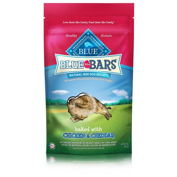 Chicken & Cheddar Blue Mini Bars Natural Dog Biscuits