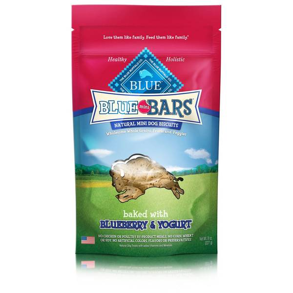Blueberry & Yogurt Blue Mini Bars Natural Dog Biscuits
