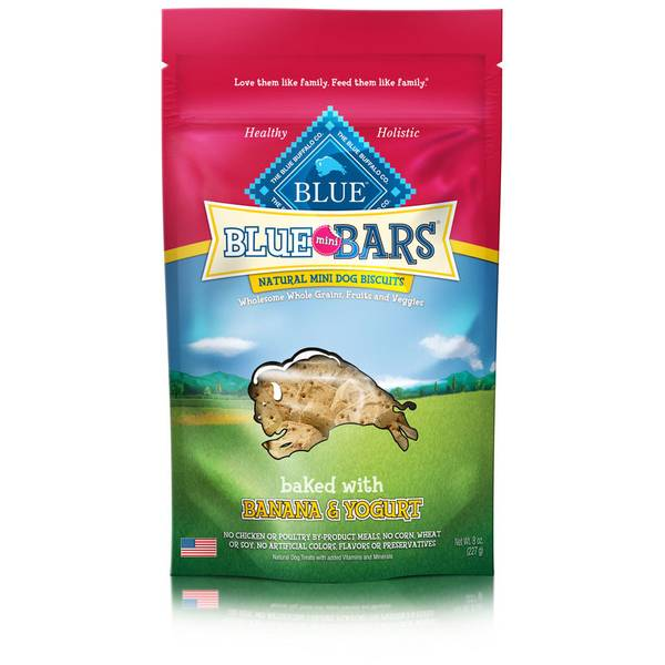 Banana & Yogurt Blue Mini Bars Natural Dog Biscuits