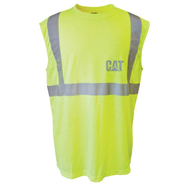 Men's  ANSI Class 2 High-Visibility Sleeveless T-Shirt