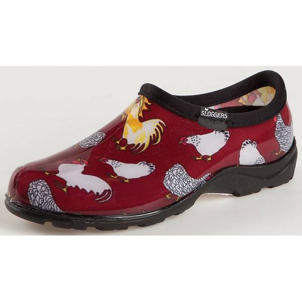 Sloggers Misses Chicken Print Slip-On Garden Shoes