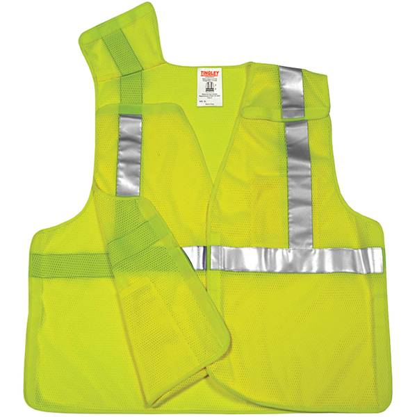 Men's Yellow High Visibility Reflective Work Vest