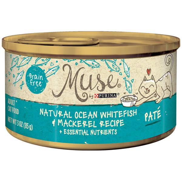 Muse Natural White Fish & Mackerel Cat Food
