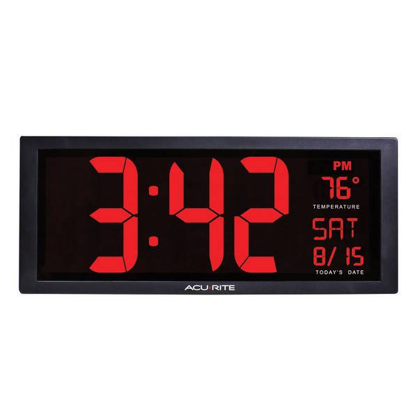 LED Clock with Indoor Temperature