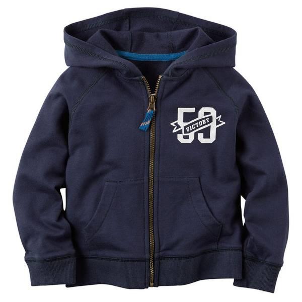 Boy's Navy Full-Zip Hoodie