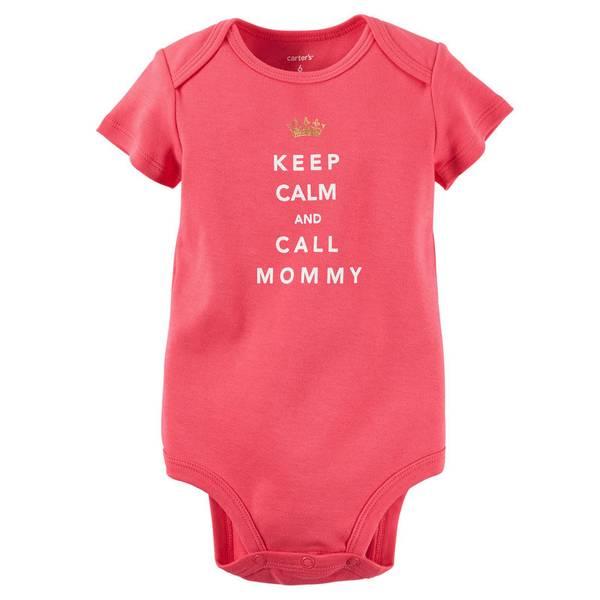 Infant Girl's Pink Short Sleeve Slogan Bodysuit