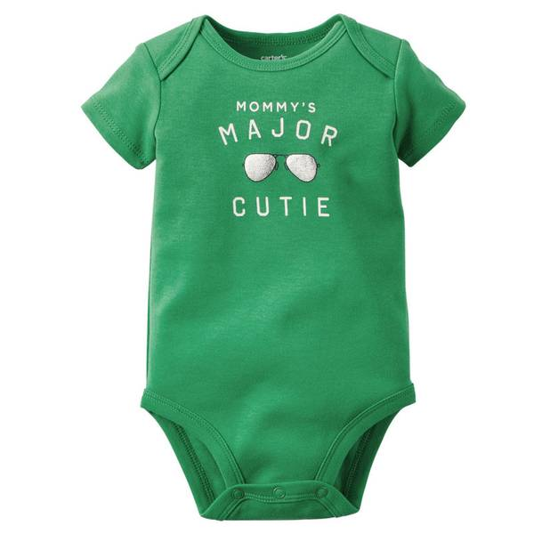 """Baby Boy's Short Sleeve """"Major Cutie"""" Bodysuit"""