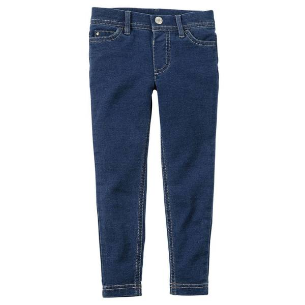 Girl's Denim French Terry Jeggings