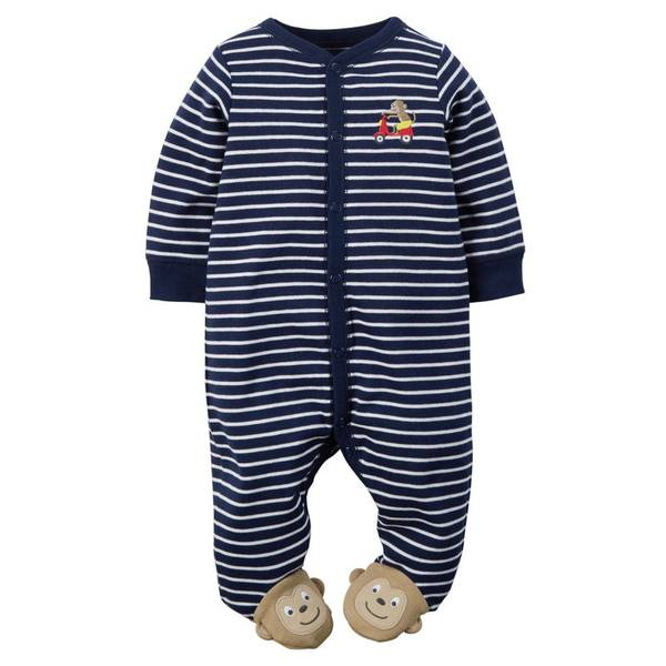 Baby Boy's Navy Sleep & Play Jumpsuit