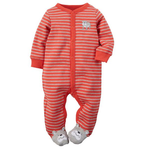 Baby Boy's Red Sleep & Play Snap-Up Jumpsuit