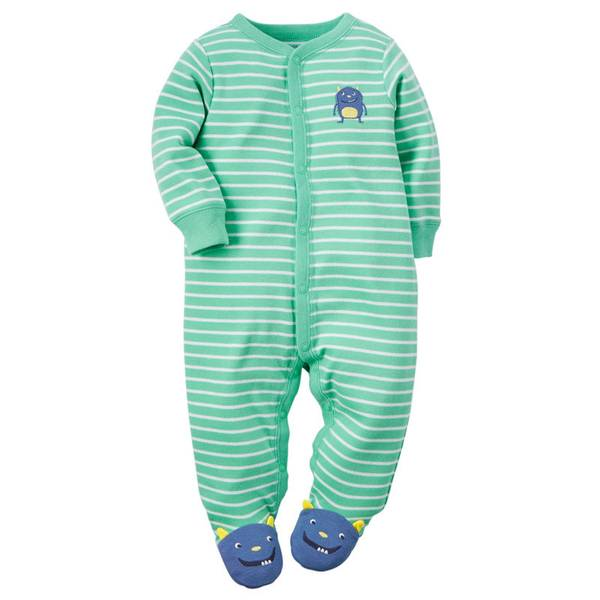 Baby Boy's Turquoise Sleep & Play Snap-Up Jumpsuit