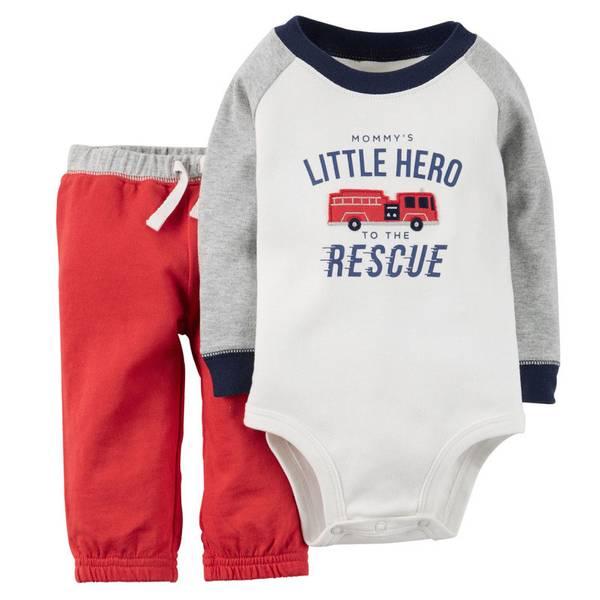 Infant Boy's Multi Colored 2-Piece Bodysuit & Pants Set
