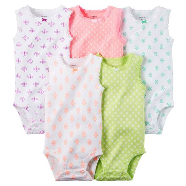 Infant Girl's Multi Colored Bodysuits Set