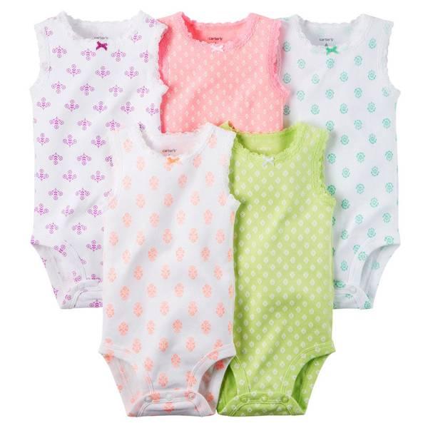 Infant Girl's Multi Colored Bodysuits Set