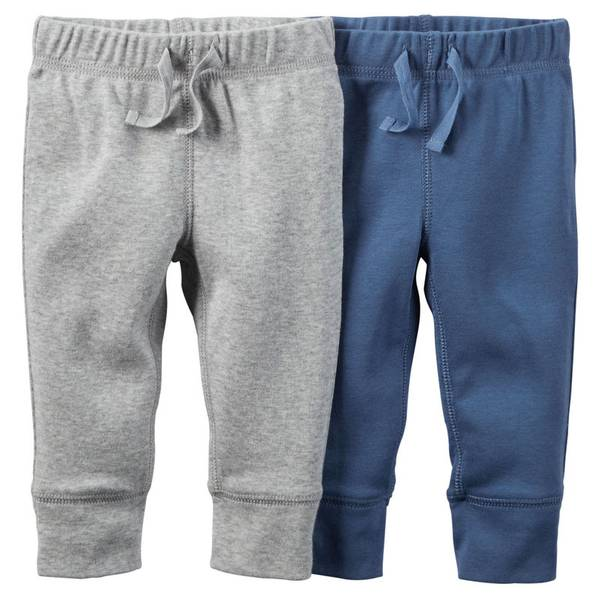 Infant Boy's Gray & Blue Pants-2 Pack