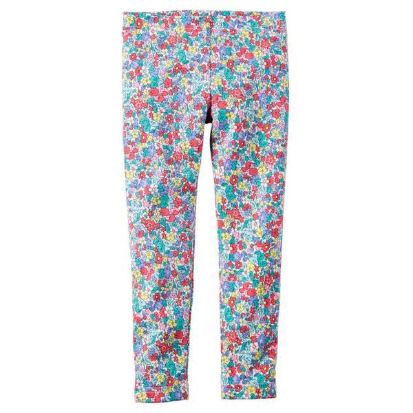 Toddler Girl's Multi Colored Floral Print Leggings