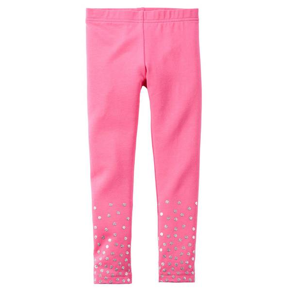Toddler Girl's Pink Printed Leggings
