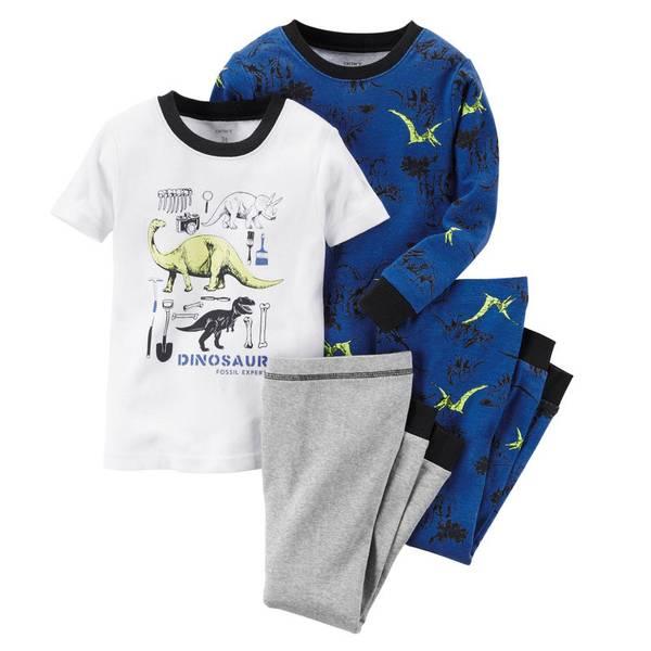 Boy's Multi Colored 4-Piece Glow-In-The-Dark Pajamas