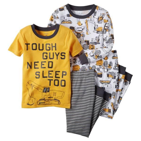 Infant Boy's Multi Colored 4-Piece Snug Fit Pajamas