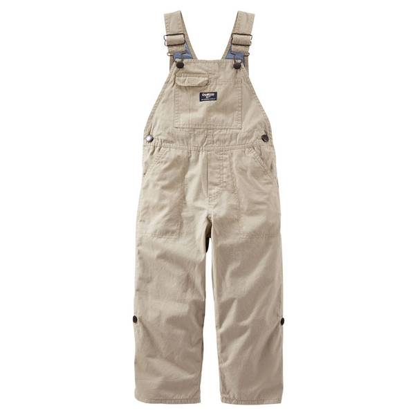 Infant Boy's Khaki Convertible Overalls