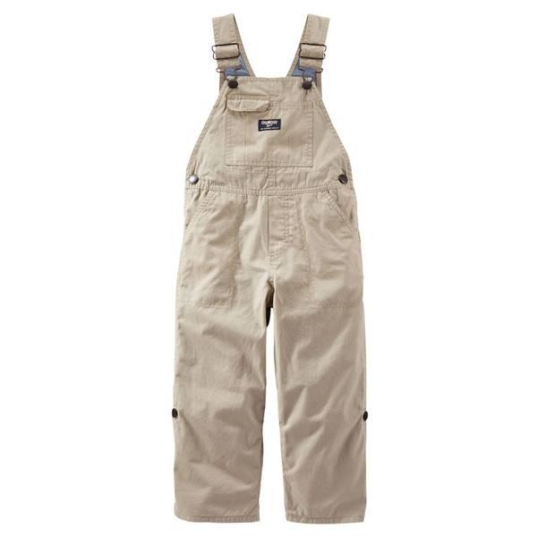 Baby Boy's Khaki Convertible Overalls