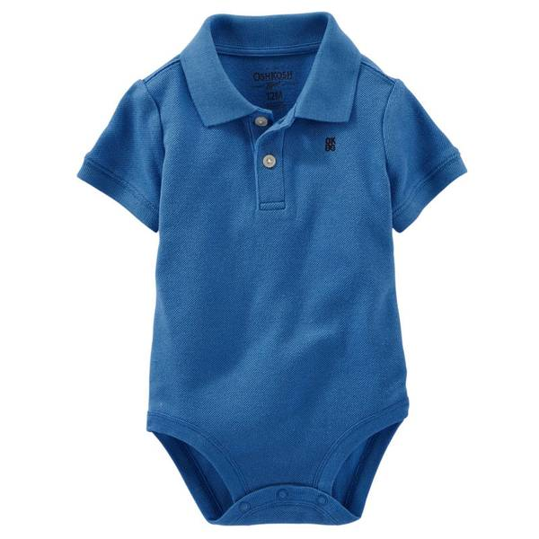 Infant Boy's Blue Polo Bodysuit