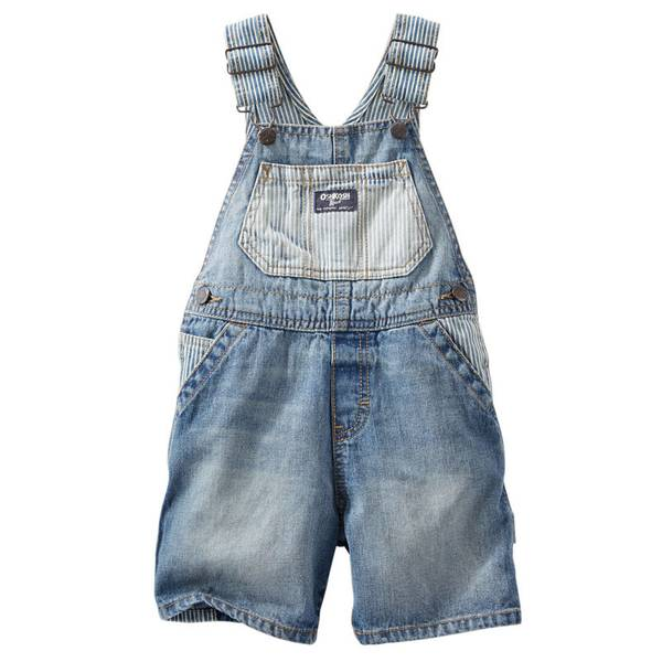 Infant Boy's Blue Denim Shortalls
