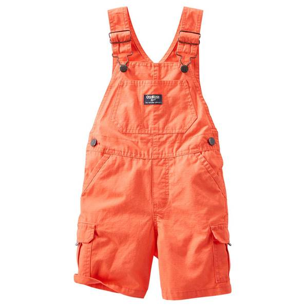 Infant Boy's Orange Cargo Shortalls