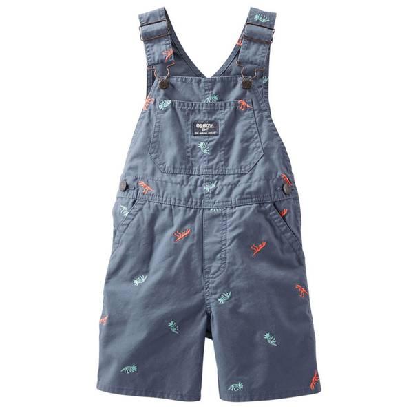 Baby Boy's Blue Dino Schiffli Shortalls