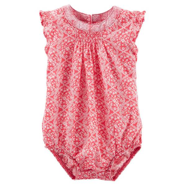 Baby Girl's Red Flutter-Sleeve Bodysuit