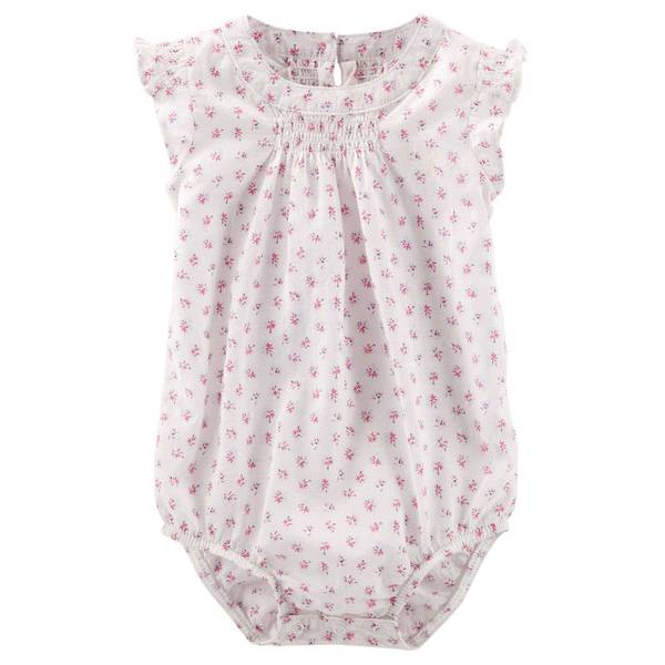 Infant Girl's Pink Flutter-Sleeve Bodysuit