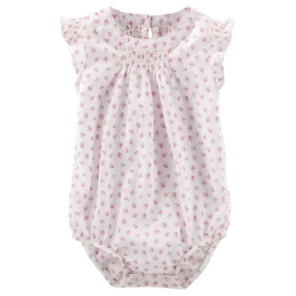 Baby Girl's Pink Flutter-Sleeve Bodysuit
