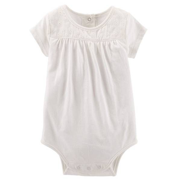 Infant Girl's Ivory Eyelet Lace Bodysuit