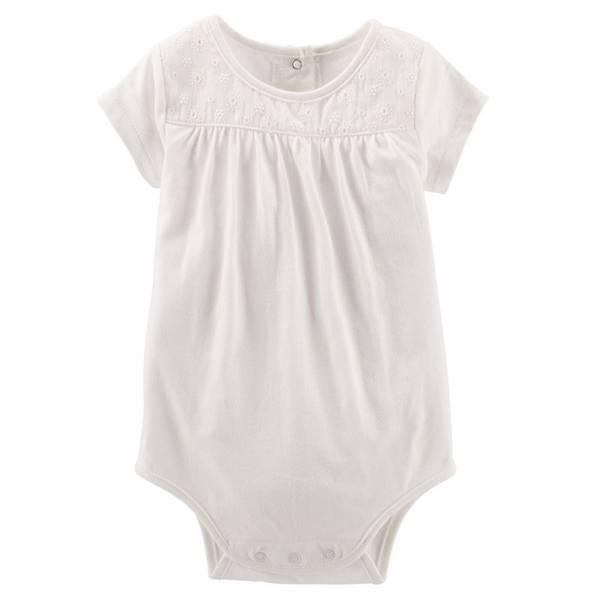 Baby Girl's Ivory Eyelet Lace Bodysuit