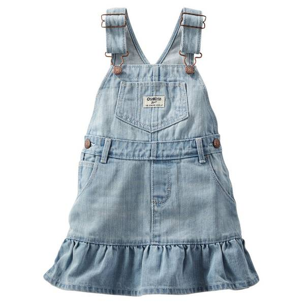 Infant Girl's Blue Ruffle-Hem Jumper