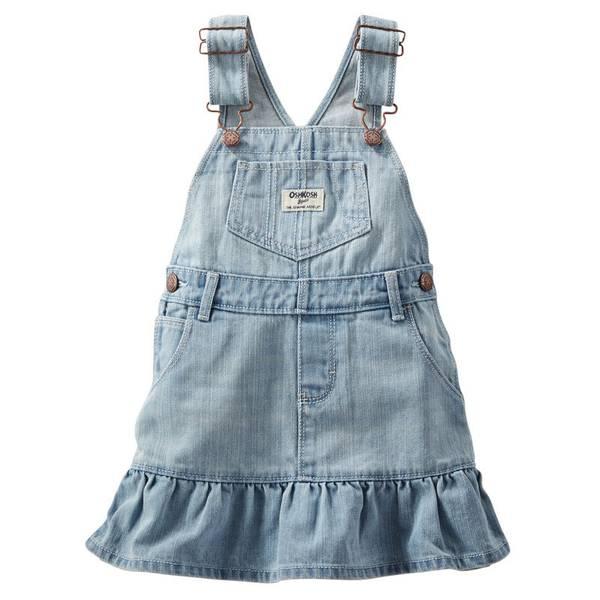 Baby Girl's Blue Ruffle-Hem Jumper