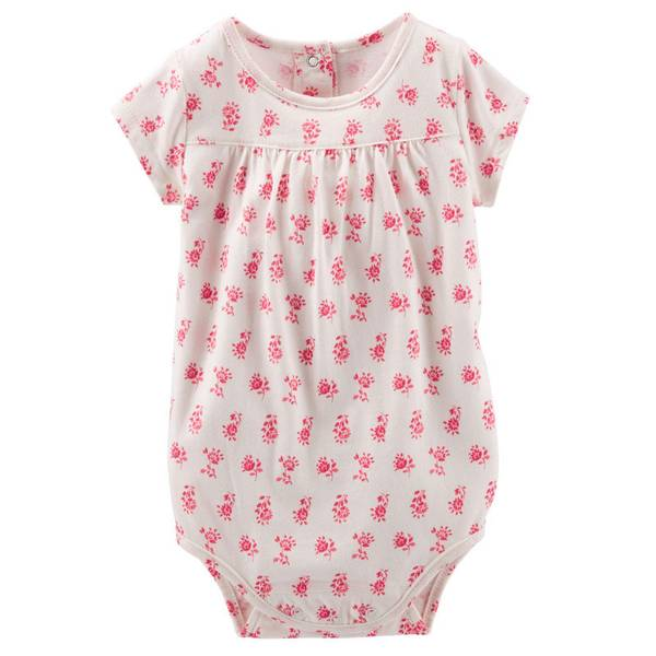 Baby Girl's Pink Printed Bodysuit