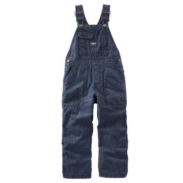 Infant Boy's Blue Convertible Denim Overalls