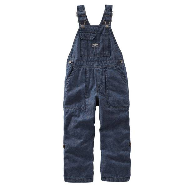 Baby Boy's Blue Convertible Denim Overalls