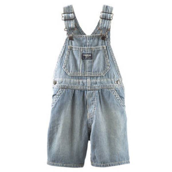 Infant Boy's Blue Chambray Overalls