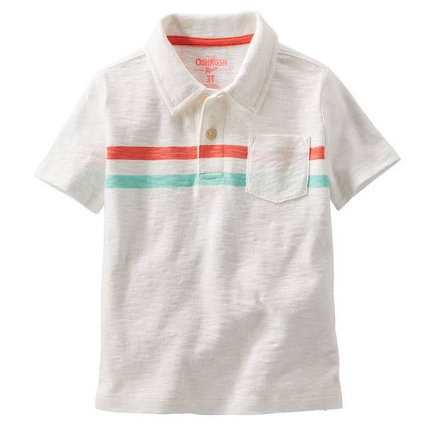 Toddler Boy's Ivory Jersey Polo