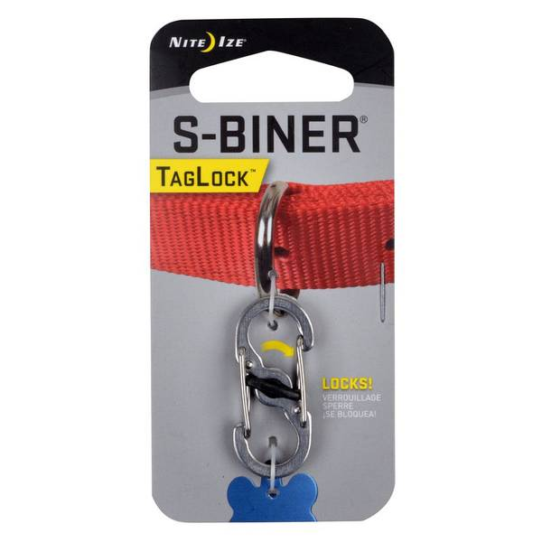 S-Biner Stainless Steel Pet TagLock