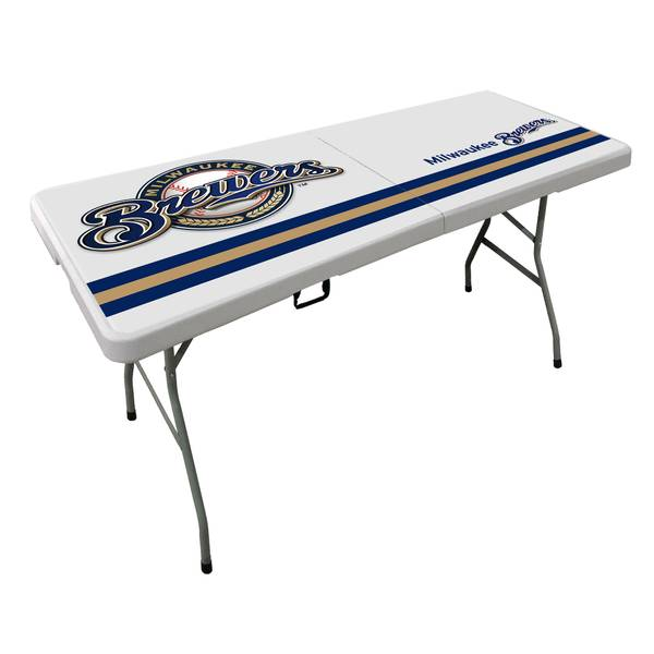 Milwaukee Brewers 6' Bifold Table
