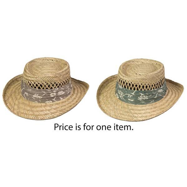 Men's Pebble Beach Woven Straw Garden Hat Assortment