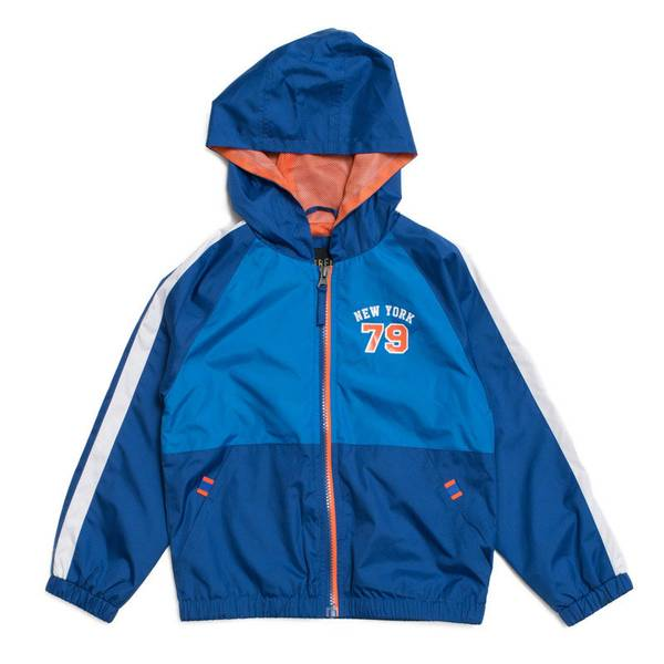 Boy's Royal Active Colorblock Long Sleeve Jacket