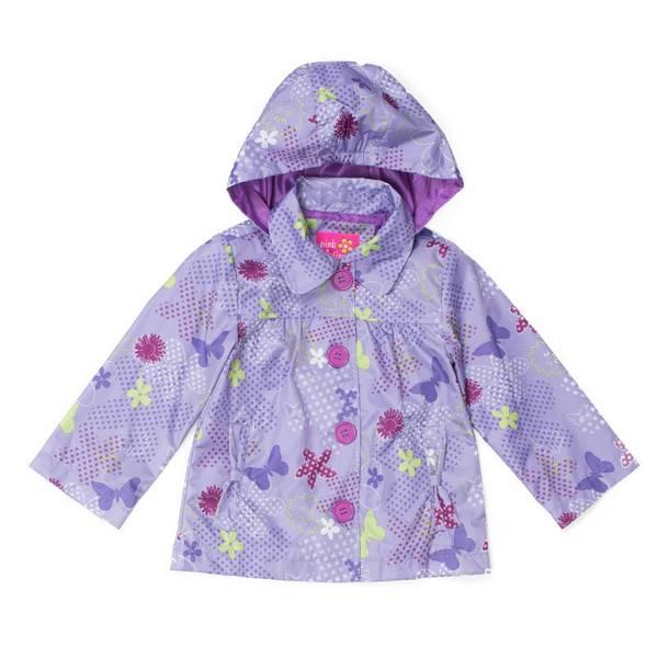 Infant Girl's Lilac Tonal Print Jacket