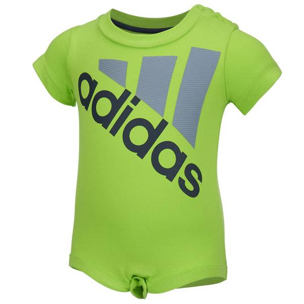 Baby Boy's Green Logo Bodysuit