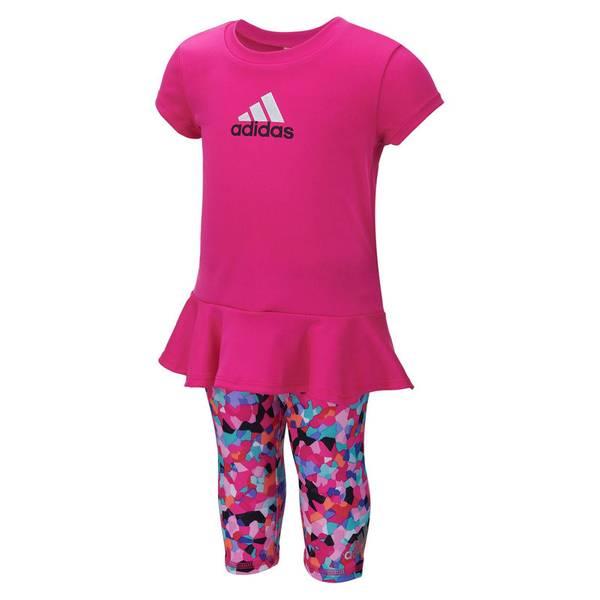 Infant Girl's Pink 2-Piece Logo Top & Leggings Set