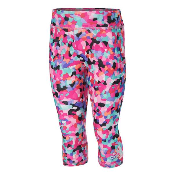 Girl's Pink Printed Capri Leggings